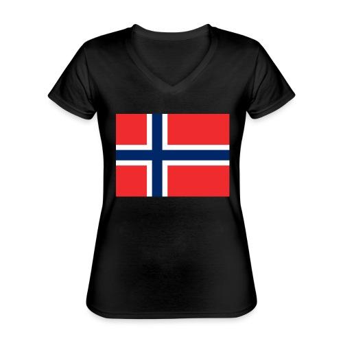 DixieMertch - Klassisk T-skjorte med V-hals for kvinner