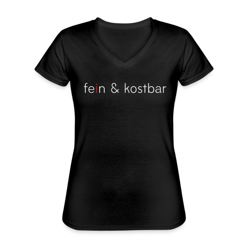 fein & kostbar | Logo | Marke | Merch - Klassisches Frauen-T-Shirt mit V-Ausschnitt