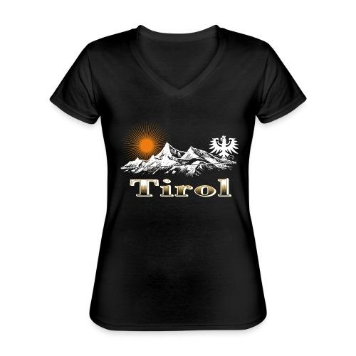 Tiroler Berge - Klassisches Frauen-T-Shirt mit V-Ausschnitt