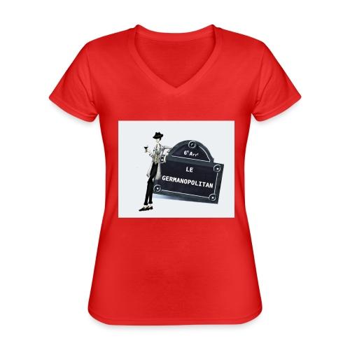 Sac Le Germanopolitan - T-shirt classique col V Femme