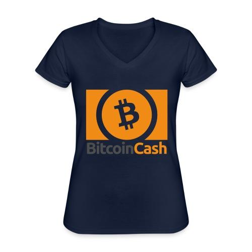 Bitcoin Cash - Klassinen naisten t-paita v-pääntiellä