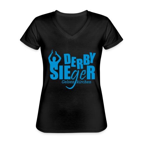 Derbysieger-Gelsenkirchen - Klassisches Frauen-T-Shirt mit V-Ausschnitt