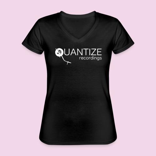 Quantize White Logo - Classic Women's V-Neck T-Shirt
