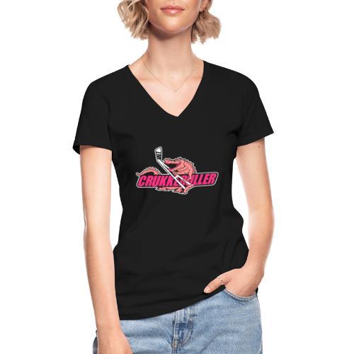 crukkeduller - Klassisk dame T-shirt med V-udskæring