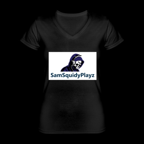 SamSquidyplayz skeleton - Classic Women's V-Neck T-Shirt