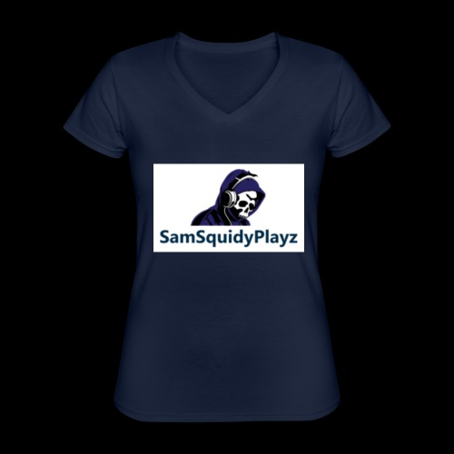 SamSquidyplayz skeleton - Classic Women's V-Neck T-Shirt