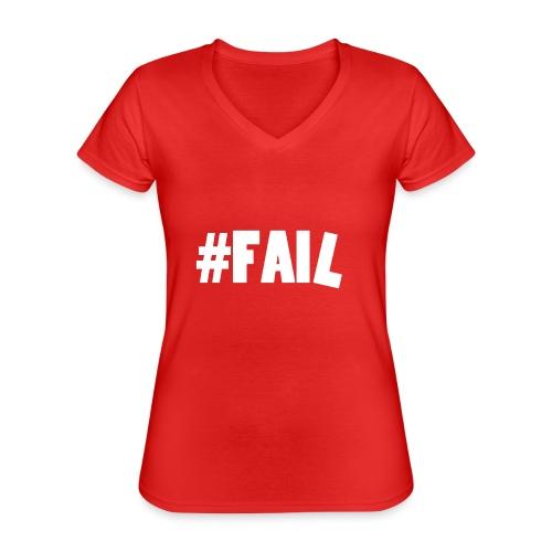FAIL / White - T-shirt classique col V Femme