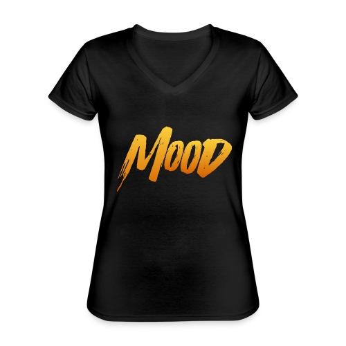 MOOD - Klassisk dame T-shirt med V-udskæring