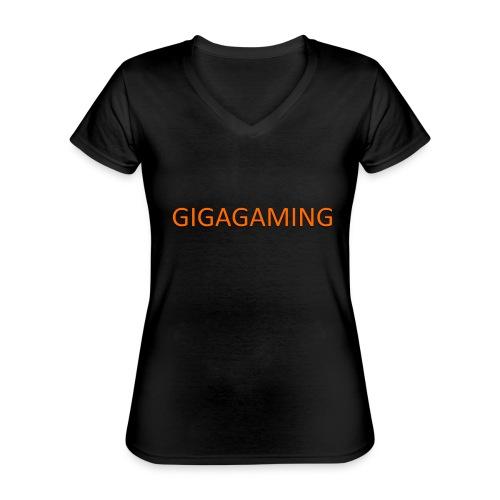 GIGAGAMING - Klassisk dame T-shirt med V-udskæring