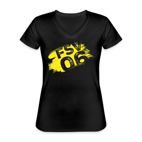 Hildburghausen FSV 06 Graffiti gelb - Klassisches Frauen-T-Shirt mit V-Ausschnitt