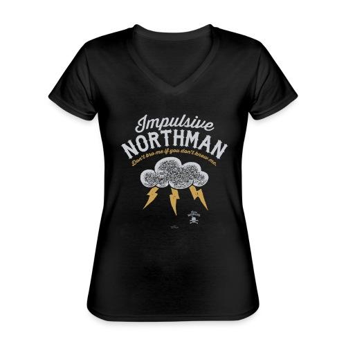 Impulsive Northman - Klassisk dame T-shirt med V-udskæring