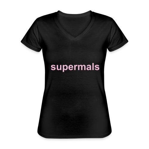 Supermals - Klassiek vrouwen T-shirt met V-hals