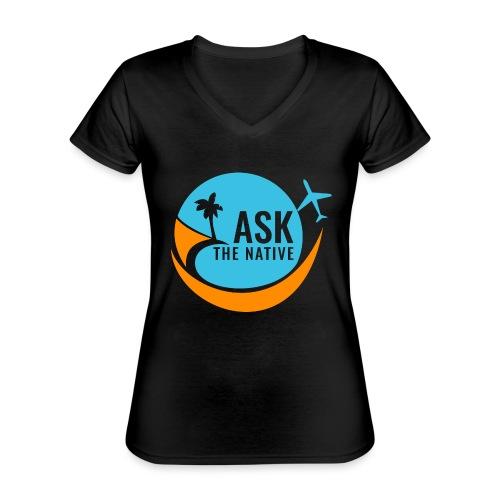 Ask the Native Original Logo - Klassiek vrouwen T-shirt met V-hals