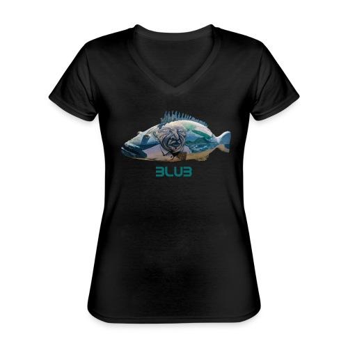 Fisch - Klassisches Frauen-T-Shirt mit V-Ausschnitt