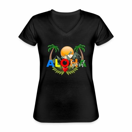 Aloha Spirit Tee - Klassisches Frauen-T-Shirt mit V-Ausschnitt