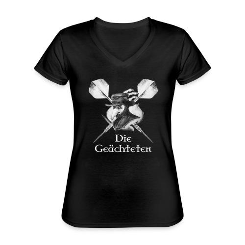 die geaechteten logooutli - Klassisches Frauen-T-Shirt mit V-Ausschnitt