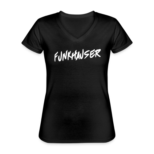 Funkhauser - Klassiek vrouwen T-shirt met V-hals