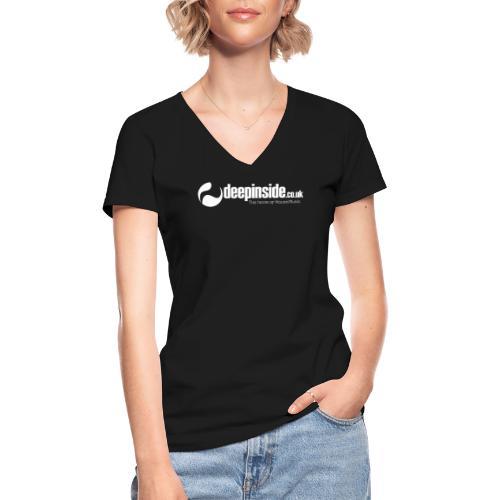 DEEPINSIDE The home of House-Music (White) - Classic Women's V-Neck T-Shirt