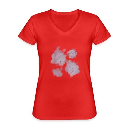 Violet splash chinchilla 2 - Klassinen naisten t-paita v-pääntiellä