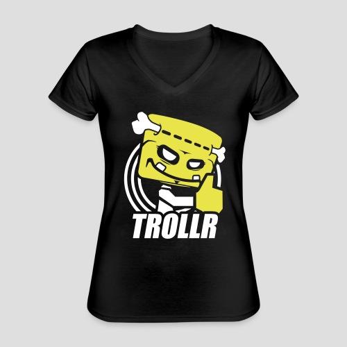 TROLLR Like - T-shirt classique col V Femme