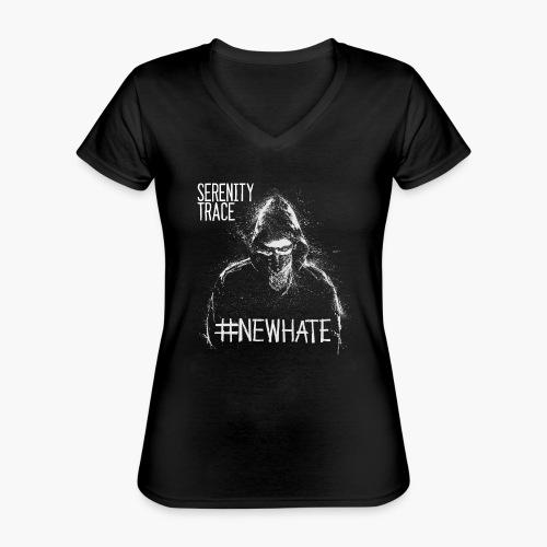 #NewHate Male - Klassisk T-skjorte med V-hals for kvinner
