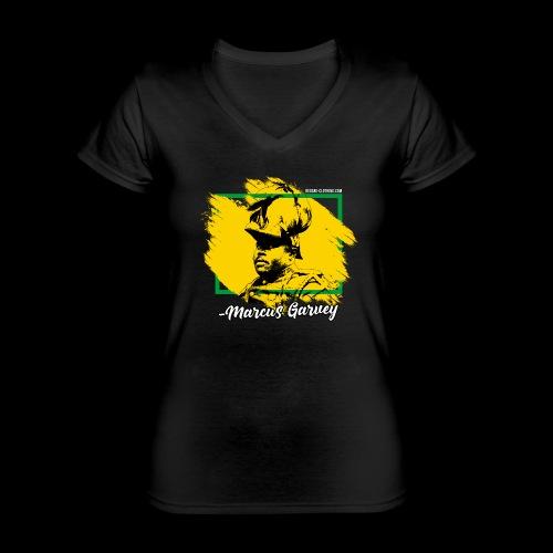 MARCUS GARVEY by Reggae-Clothing.com - Klassisches Frauen-T-Shirt mit V-Ausschnitt