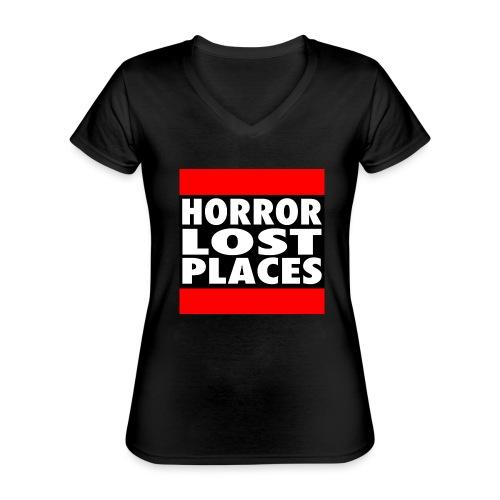 Horror Lost Places - Klassisches Frauen-T-Shirt mit V-Ausschnitt