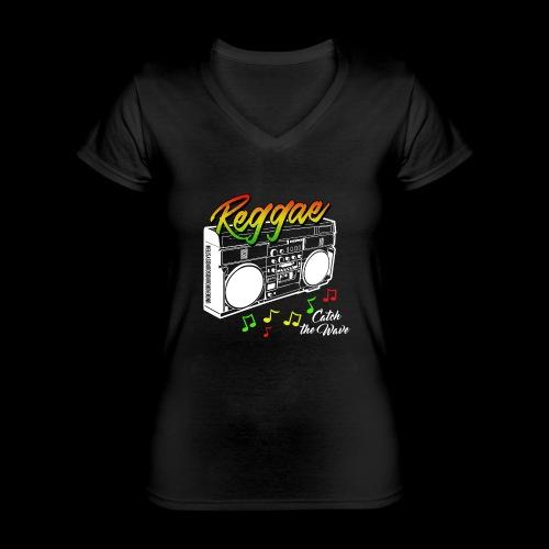 Reggae - Catch the Wave - Klassisches Frauen-T-Shirt mit V-Ausschnitt