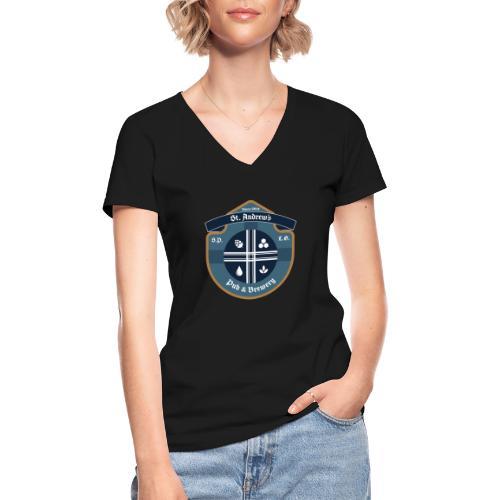 St Andrews T-Shirt - Maglietta da donna classica con scollo a V