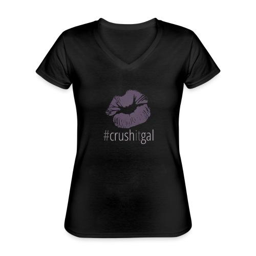 #crushitgal - Classic Women's V-Neck T-Shirt