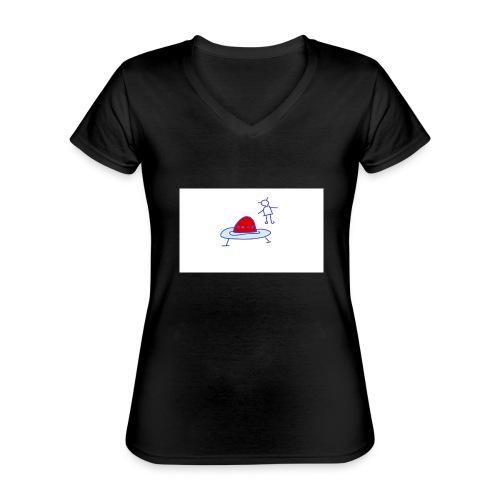 Project 3 - Camiseta clásica con cuello de pico para mujer