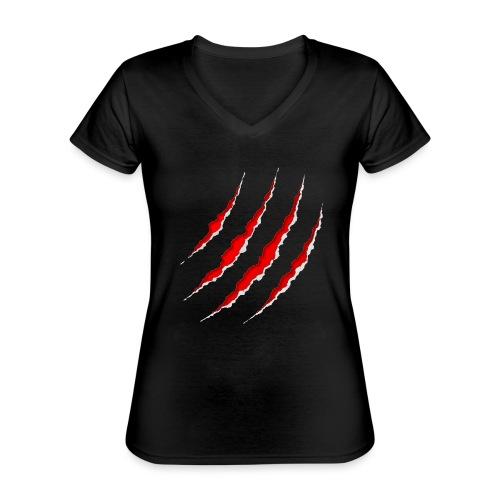 Scars - Klassisk dame T-shirt med V-udskæring
