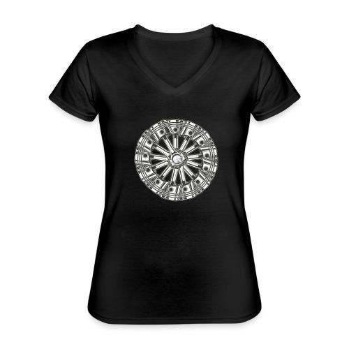 zuiger rol - Klassiek vrouwen T-shirt met V-hals