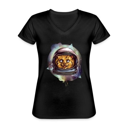 Cute astronaut kitten - Classic Women's V-Neck T-Shirt