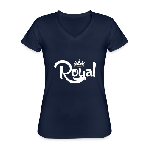 Royal Logo White Edition - Classic Women's V-Neck T-Shirt