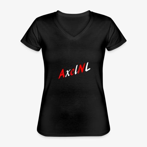 AxelNL - ROOD - Klassiek vrouwen T-shirt met V-hals