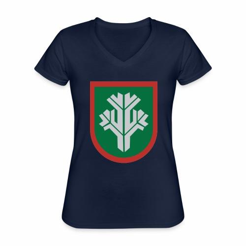 sissi - Klassinen naisten t-paita v-pääntiellä