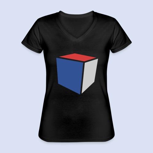 Cube Minimaliste - T-shirt classique col V Femme