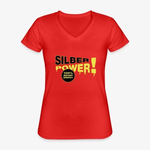 SilberPower! - Klassisk dame T-shirt med V-udskæring