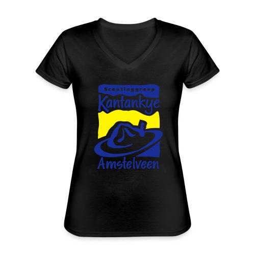 logo simpel 2 - Klassiek vrouwen T-shirt met V-hals