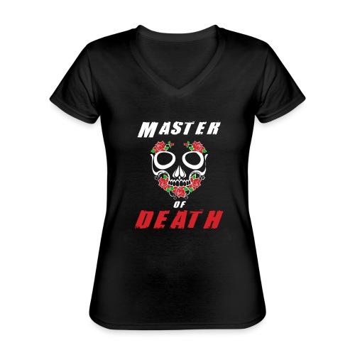 Master of death - white - Klasyczna koszulka damska z dekoltem w serek