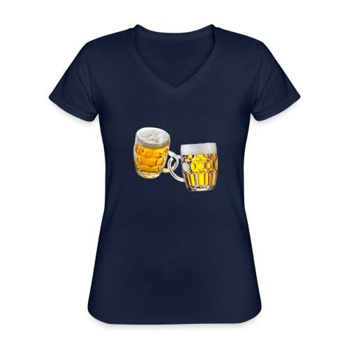 Boccali di birra - Maglietta da donna classica con scollo a V