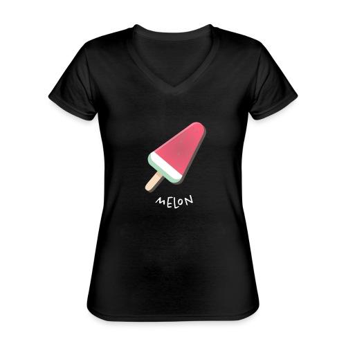 melon vrouwen t-shirt - Klassiek vrouwen T-shirt met V-hals