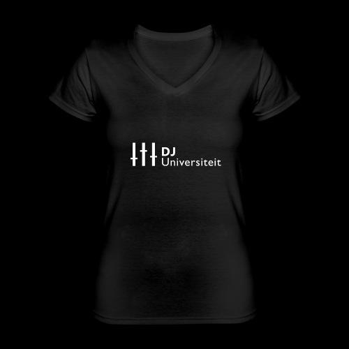 DJ-U (WIT) - Klassiek vrouwen T-shirt met V-hals