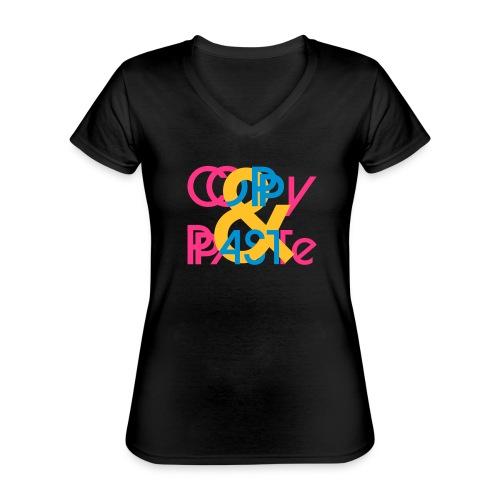 Copy & Paste - Klassisches Frauen-T-Shirt mit V-Ausschnitt