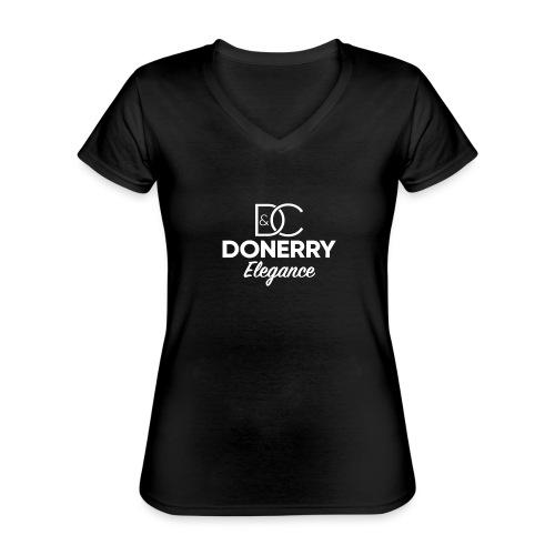 Donerry Elegance NEW White on Dark - Classic Women's V-Neck T-Shirt