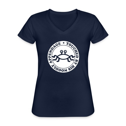 Touched by His Noodly Appendage - Classic Women's V-Neck T-Shirt