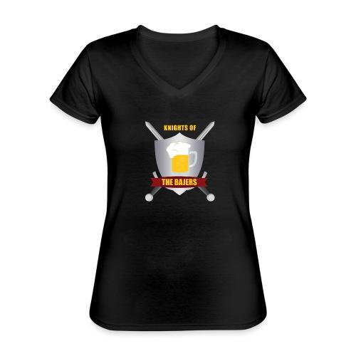 Knights of The Bajers - Klassisk dame T-shirt med V-udskæring
