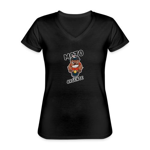moto argente - T-shirt classique col V Femme