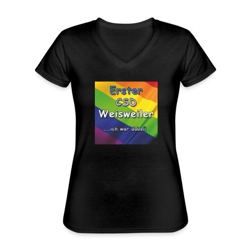 Erster CSD Weisweiler - Klassisches Frauen-T-Shirt mit V-Ausschnitt